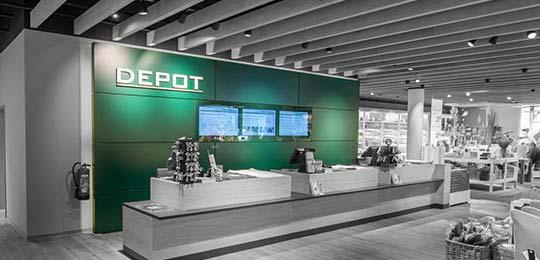Diseño de tienda Depot de figo GmbH