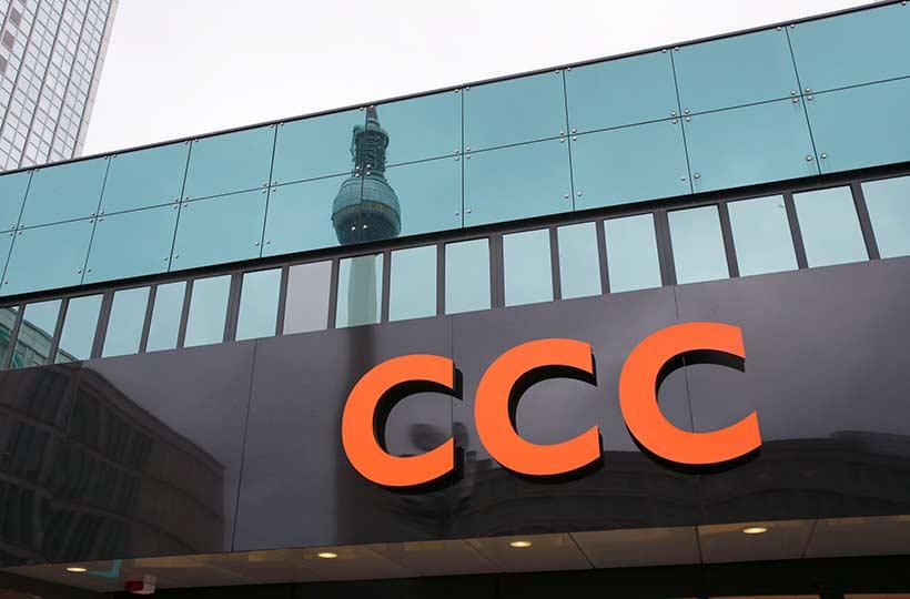 Außenansicht des CCC Shops am Alexanderplatz Berlin, Referenz-Shop der Figo Gmbh, Shopdesign, Shopkonzeption, Projektleitung und Bauleitung