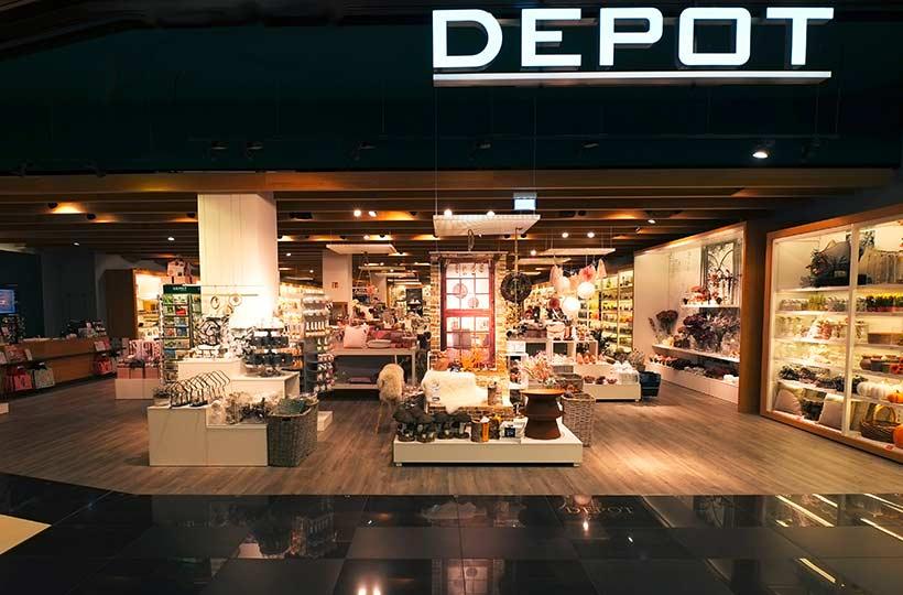 Außenansicht eines Depot Shops, Referenz-Shop der Figo Gmbh, Shopdesign, Shopkonzeption, Projektleitung und Bauleitung