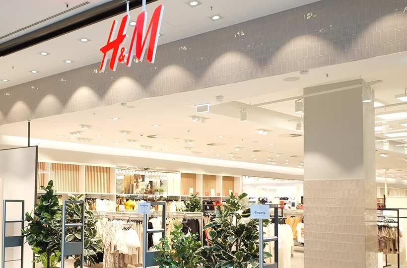 Ansicht eines H&M Shops, Referenz-Shop der Figo Gmbh, Shopdesign, Shopkonzeption, Projektleitung und Bauleitung