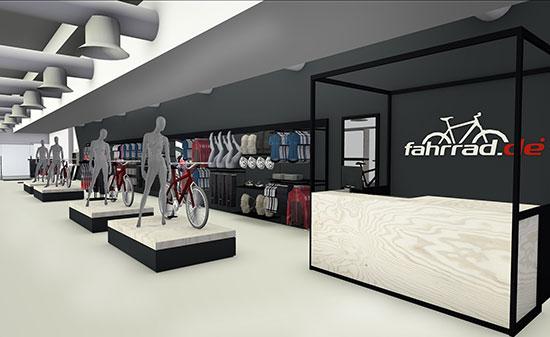 Shop Fahrrad.de - Figo GmbH - Shopdesign, Shopkonzepte, Bauleitung, Projektmanagement