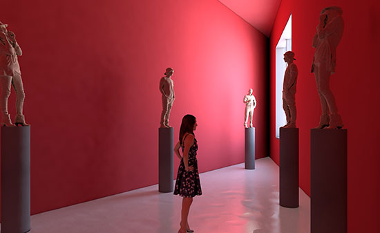 Visualisierung Museum - Figo GmbH - Shopdesign, Shopkonzepte, Bauleitung, Projektmanagement