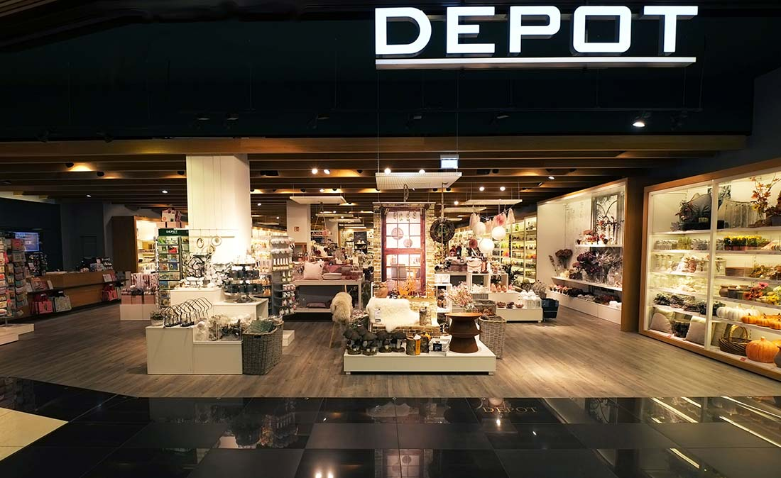 depot - Referenz der Figo Gmbh, Shopdesign, Shopkonzeption, Projektleitung und Bauleitung