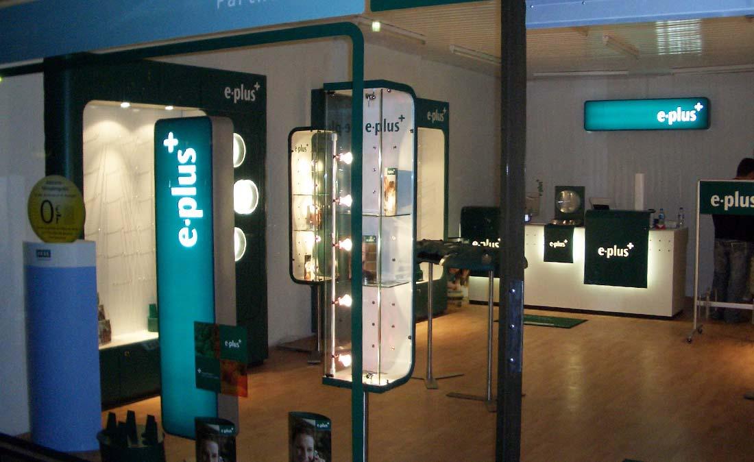 eplus_base - Referenz der Figo Gmbh, Shopdesign, Shopkonzeption, Projektleitung und Bauleitung