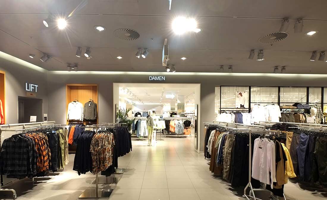 H&M Ladenbereich - Referenz der Figo Gmbh, Shopdesign, Shopkonzeption, Projektleitung und Bauleitung