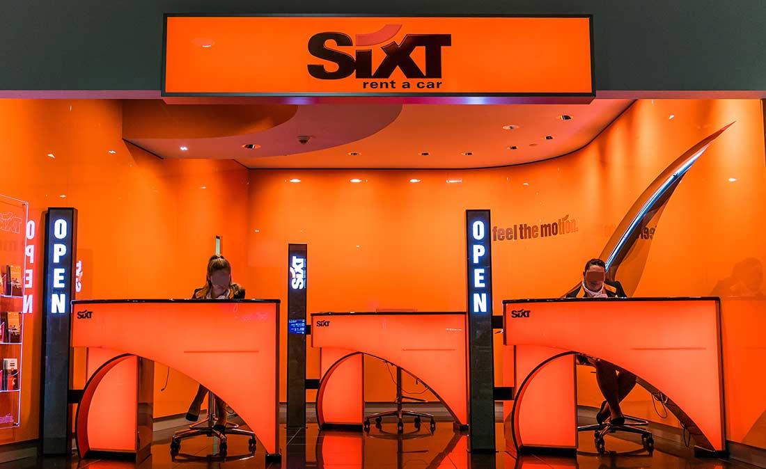 Sixt Showroom - Referenz der Figo Gmbh, Shopdesign, Shopkonzeption, Projektleitung und Bauleitung