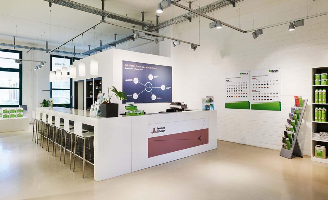 tremco-illbruck - Referenz der Figo Gmbh, Shopdesign, Shopkonzeption, Projektleitung und Bauleitung